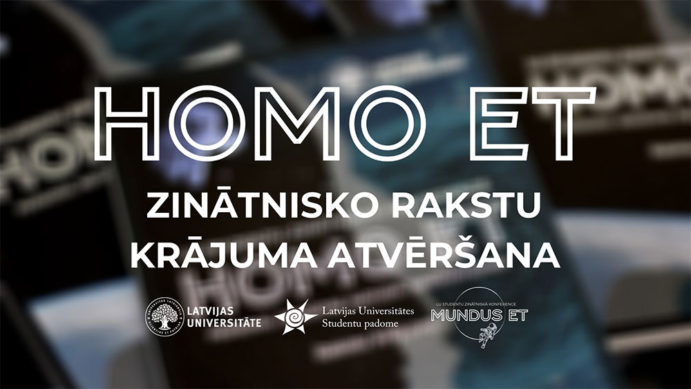 """""""12. maijā iznāks konferences """"Homo et…"""" zinātnisko rakstu krājums."""""""